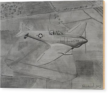 Spitfire Wood Print by Brian Hustead