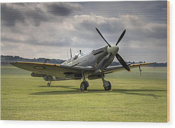 Spitfire Ready To Go Wood Print
