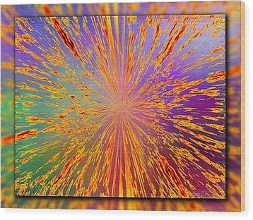 Splattered Wood Print by Tim Allen