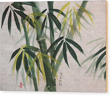 Wood Print featuring the painting Splendid Bamboo by Alethea McKee