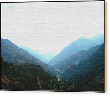 Splendors Of Himalayas-2 Wood Print by Anand Swaroop Manchiraju