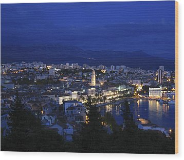 Wood Print featuring the photograph Split Croatia by David Gleeson