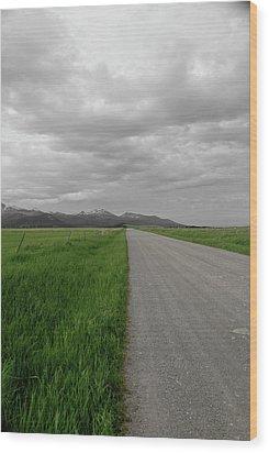 Split Line Wood Print by Roderick Bley