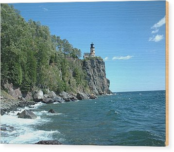 Wood Print featuring the photograph Split Rock by Bonfire Photography