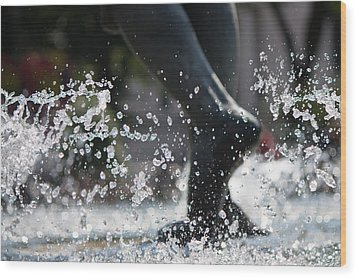 Wood Print featuring the photograph Sploosh by Stephanie Nuttall