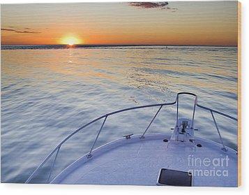 Sportfish Sunrise On The Atlantic Wood Print by Dustin K Ryan
