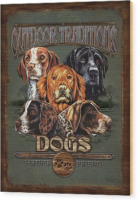 Sporting Dog Traditions Wood Print by JQ Licensing