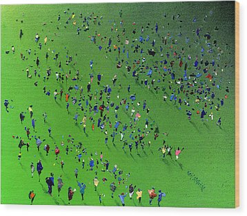 Sports Day Wood Print by Neil McBride
