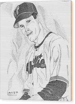 Sports Portrait Wood Print by Marty Rice