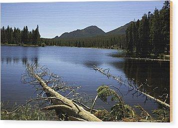 Sprague Lake Rocky Mountain National Park Wood Print by Gary Batha