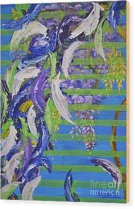 Wood Print featuring the painting Spring And Fall by Kathleen Pio