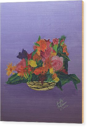 Wood Print featuring the painting Spring Bouquet by Swabby Soileau