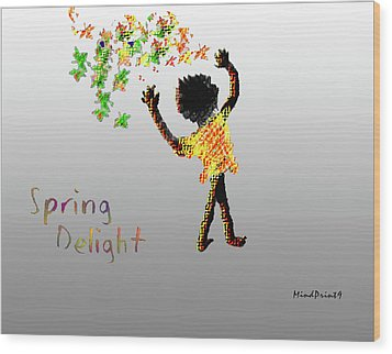 Wood Print featuring the digital art Spring Delight by Asok Mukhopadhyay