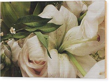 Spring Flowers Wood Print by Anna Villarreal Garbis