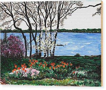 Spring Flowers Wood Print by Tom Roderick