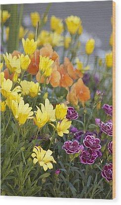 Spring  Garden Wood Print by Sylvia Hart