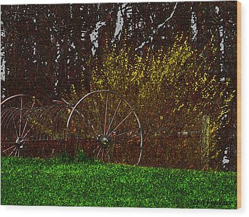 Spring In The Country Wood Print by Debra     Vatalaro