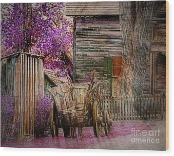 Wood Print featuring the digital art Spring  by Irina Hays