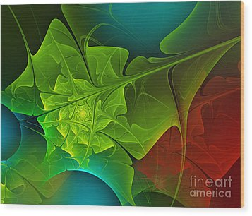 Spring Wood Print by Jutta Maria Pusl