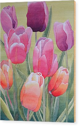 Wood Print featuring the painting Spring by Laurel Best