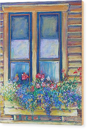 Wood Print featuring the painting Spring by Li Newton