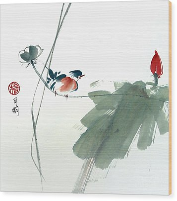Spring Melody Wood Print by Ming Yeung