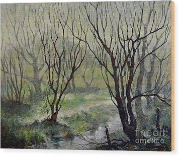 Spring Mist Wood Print