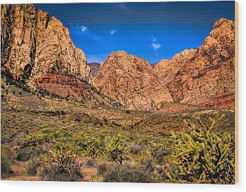 Spring Mountain Ranch In Red Rock Canyon II Wood Print by David Patterson