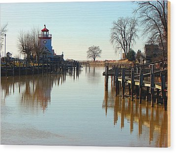 Spring On The Ausable River At Grand Bend Wood Print