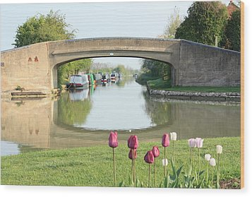 Wood Print featuring the photograph Spring On The Oxford Canal by Linsey Williams
