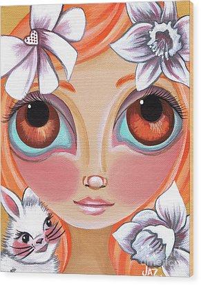 Spring Princess Wood Print by Jaz Higgins