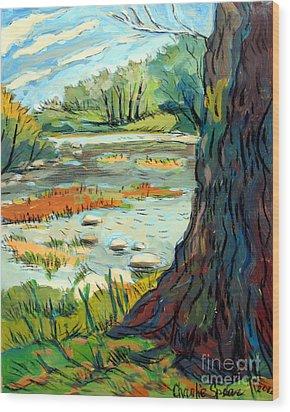 Spring River Eel Wood Print by Charlie Spear