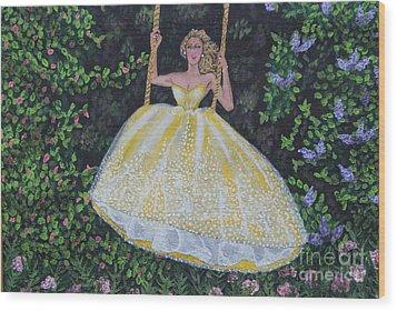 Spring Swing Wood Print by William Ohanlan
