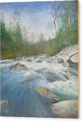 Spring Thaw Wood Print by Max Mckenzie
