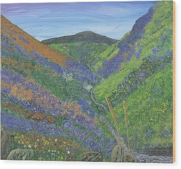 Spring Time In The Mountains Wood Print by Lori  Theim-Busch