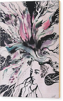 Wood Print featuring the painting Spring by Valentina Plishchina