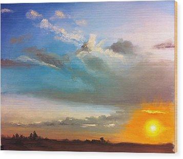 Springfield Sunset Wood Print by Prashant Shah