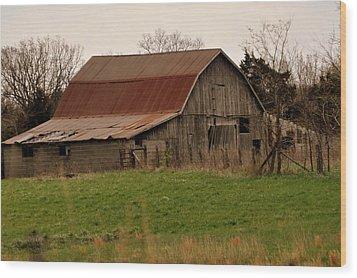 Springtime Barn Wood Print by Marty Koch