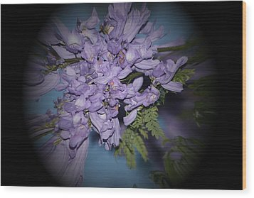 Spyglass Purple Wood Print by Elizabeth  Doran