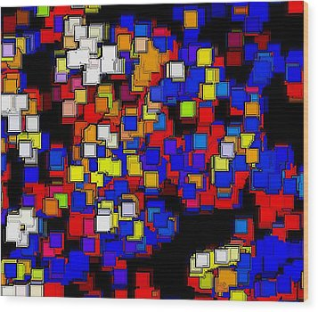 Squares Selection Number 2 Wood Print by Rod Saavedra-Ferrere