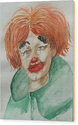 Ssend In The Clown Wood Print by Betty Pimm