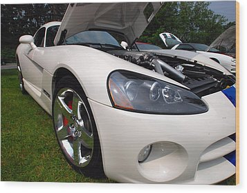 Wood Print featuring the pyrography Ssss 2009 Dodge Viper by John Schneider