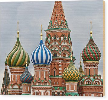 St. Basil's Cathedral Wood Print