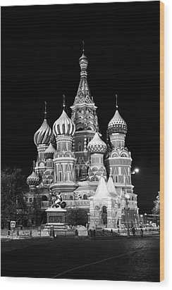 St Basils Church In Red Square  Wood Print by Philip Neelamegam