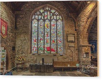 St Dyfnog Wood Print by Adrian Evans