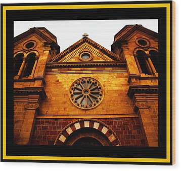 Wood Print featuring the photograph St. Francis Basilica Cathedral by Susanne Still