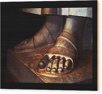 Wood Print featuring the photograph St. Francis Of Assisi's Sacred Feet by Susanne Still