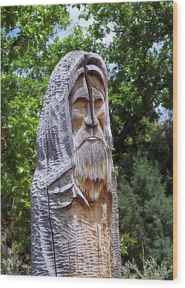 Wood Print featuring the photograph St. Francis Riven by Susan Alvaro