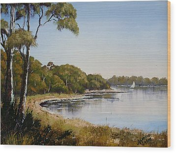St Georges Basin - Early Morning Wood Print