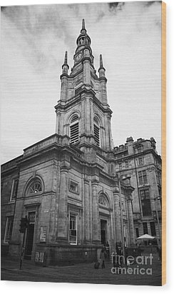 St Georges-tron Church Nelson Mandela Place Glasgow Scotland Uk Wood Print by Joe Fox